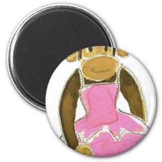 princess ballerina monkey magnet