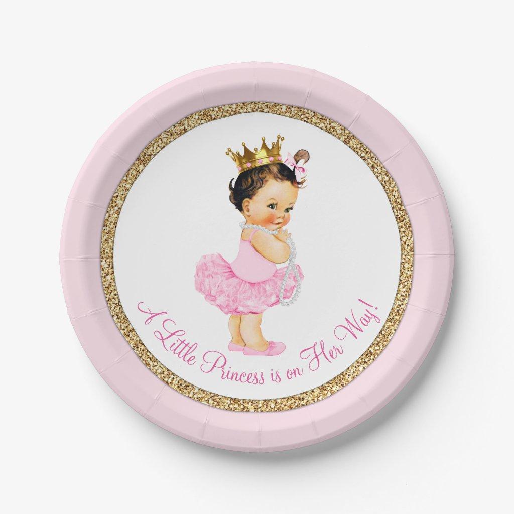Superb Princess Baby Shower Plates