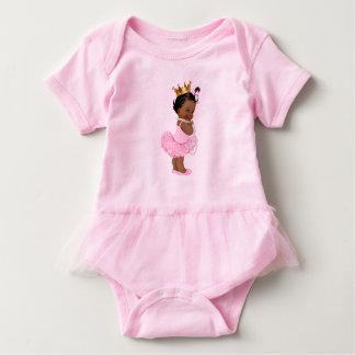 Princess Ballerina Tutu Pearls Ethnic Baby Girl Baby Bodysuit