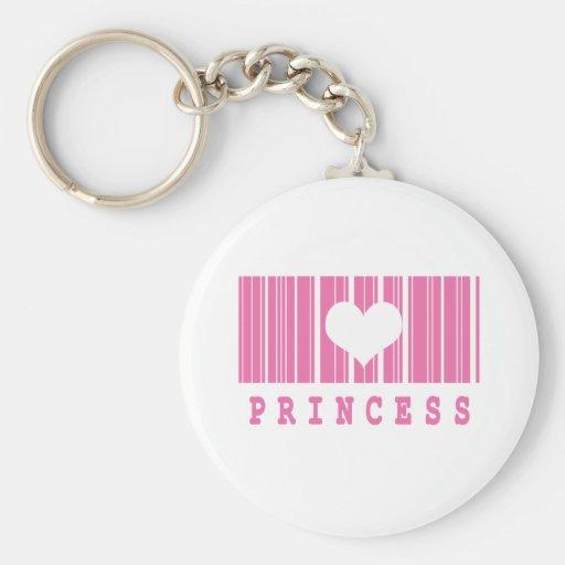princess barcode design basic round button keychain