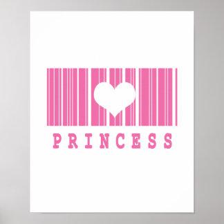 princess barcode design poster