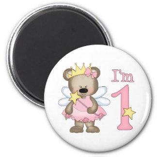 Princess Bear 1st Birthday Magnet