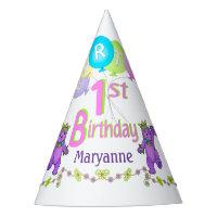 Princess Bear 1st Birthday Party Fun Party Hat