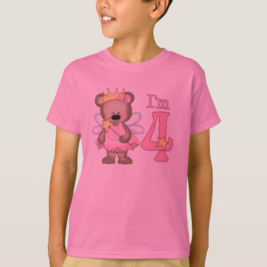Princess Bear 4th Birthday T-Shirt