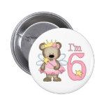 Princess Bear 6th Birthday Pins