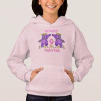 Princess Bears 9th Birthday Custom Name Hoodie