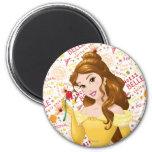 Princess Belle 2 Inch Round Magnet