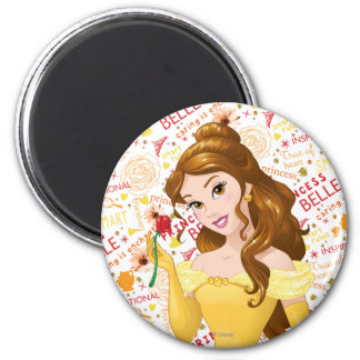 Princess Belle 2 Inch Round Magnet