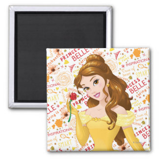 Princess Belle 2 Inch Square Magnet