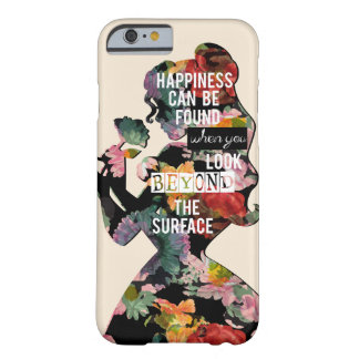 Princess | Belle Floral Silhouette Barely There iPhone 6 Case