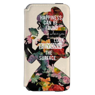 Princess | Belle Floral Silhouette iPhone 6/6s Wallet Case