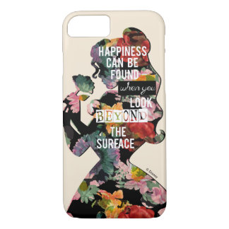 Princess | Belle Floral Silhouette iPhone 8/7 Case