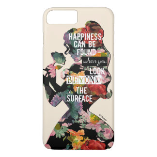 Princess | Belle Floral Silhouette iPhone 8 Plus/7 Plus Case