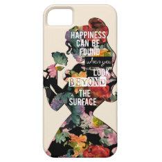 Princess   Belle Floral Silhouette Iphone Se/5/5s Case at Zazzle