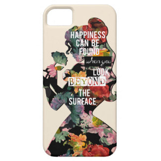Princess | Belle Floral Silhouette iPhone SE/5/5s Case