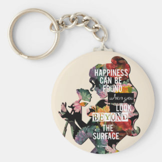 Princess | Belle Floral Silhouette Keychain