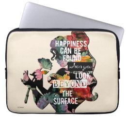 Princess | Belle Floral Silhouette Laptop Sleeve