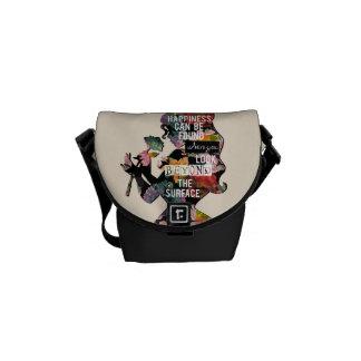 Princess | Belle Floral Silhouette Messenger Bag
