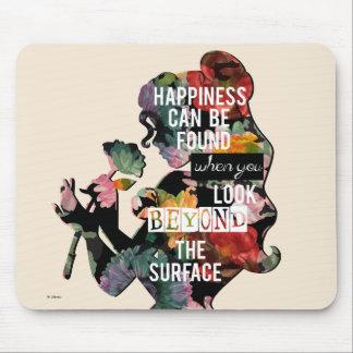Princess | Belle Floral Silhouette Mouse Pad