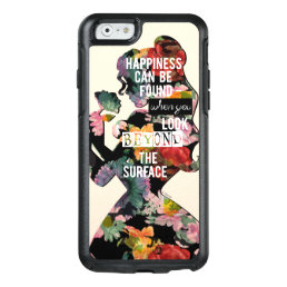 Princess   Belle Floral Silhouette OtterBox iPhone 6/6s Case