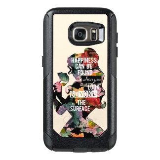 Princess   Belle Floral Silhouette OtterBox Samsung Galaxy S7 Case