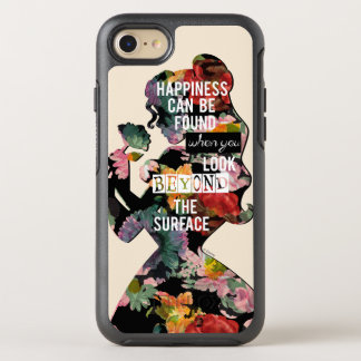 Princess | Belle Floral Silhouette OtterBox Symmetry iPhone 8/7 Case
