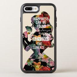 Princess | Belle Floral Silhouette OtterBox Symmetry iPhone 8 Plus/7 Plus Case