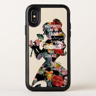 Princess | Belle Floral Silhouette OtterBox Symmetry iPhone X Case