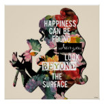 Princess | Belle Floral Silhouette Poster
