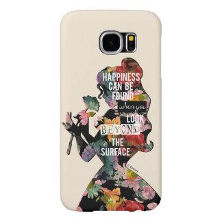 Princess   Belle Floral Silhouette Samsung Galaxy S6 Case