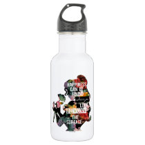 Princess | Belle Floral Silhouette Stainless Steel Water Bottle