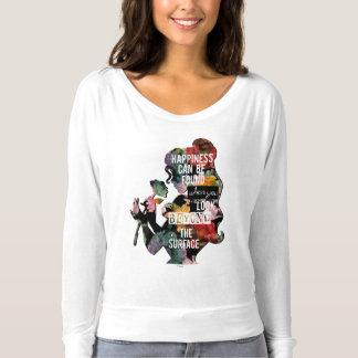 Princess   Belle Floral Silhouette T-shirt