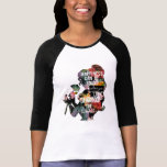 """Princess   Belle Floral Silhouette T-Shirt<br><div class=""""desc"""">Disney Fast Fashion   Belle - &quot;Happiness can be found when you look beyond the surface&quot;. This typography graphic is overlayed a floral textured silhouette of Belle (Beauty and the Beast) holding a rose.</div>"""