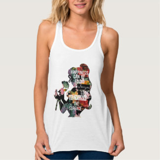 Princess | Belle Floral Silhouette Tank Top