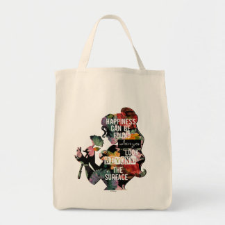 Princess | Belle Floral Silhouette Tote Bag
