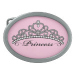 Princess Belt Buckle (pink background)