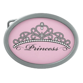 Princess Belt Buckle (pink background)