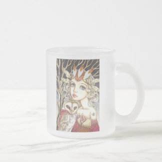 Princess Bianca and George the Brave Heart Frosted Glass Coffee Mug