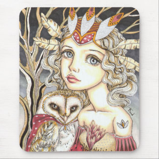 Princess Bianca and George the Brave Heart Mouse Pad