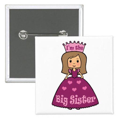 Princess Big Sister 2 Inch Square Button