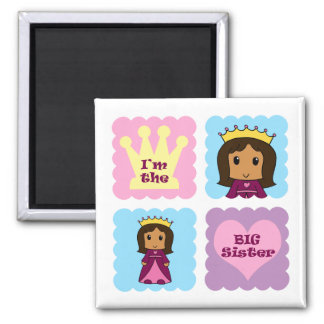 Princess Big Sister 2 Inch Square Magnet