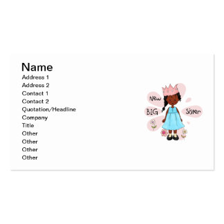 Princess Big Sister African American Double-Sided Standard Business Cards (Pack Of 100)
