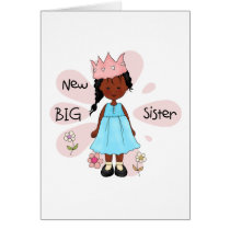 Princess Big Sister African American Card