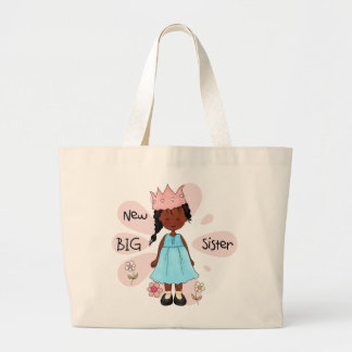 Princess Big Sister African American Large Tote Bag