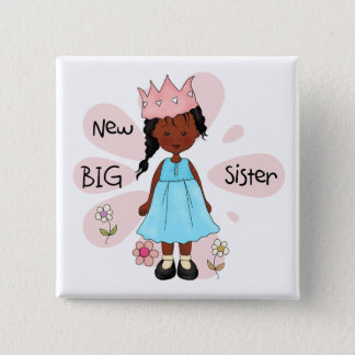 Princess Big Sister African American Pinback Button
