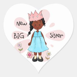 Princess Big Sister African American Stickers