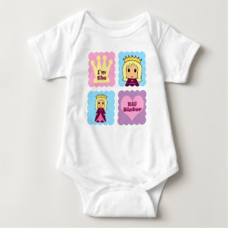 Princess Big Sister Baby Bodysuit
