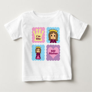 Princess Big Sister Baby T-Shirt