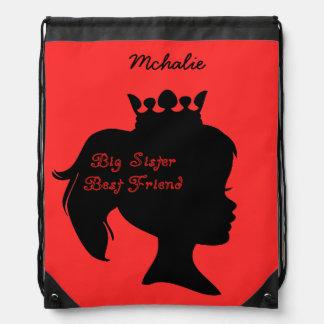 Princess Big Sister Best Friend Drawstring Bag