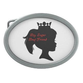 Princess Big Sister Best Friend Oval Belt Buckle